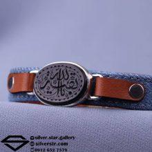 دستبند  عقیق مشکی خطی – نقش یا بقیه الله