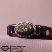 دستبند حدید صینی نقش علی ولی الله