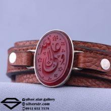 دستبند عقیق سرخ نقش علی ولی الله