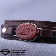 دستبند عقیق سرخ نقش یا زینب